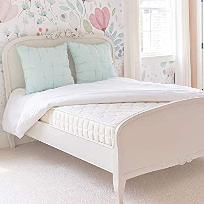 Naturepedic Verse Organic Kids Mattress, Firm Natural Mattress with Quilted Top, Non-Toxic, Queen Size