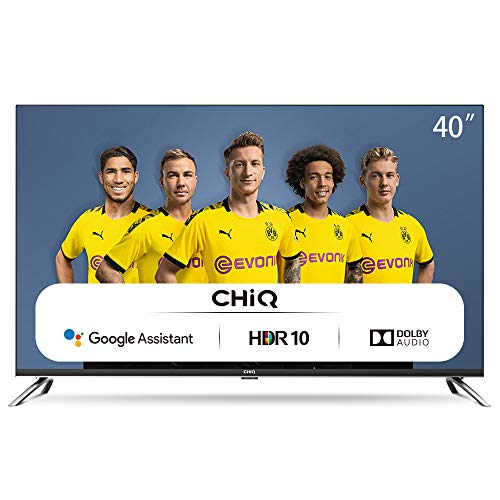 CHiQ L40H7A, 40 Zoll (100 cm), Android 9.0, Smart TV, FHD, WiFi, Bluetooth, Google Assistant, Netflix, Prime Video, HDMI, USB