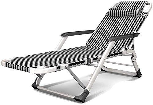 Plegable de jardín Tumbona reclinable silla de playa con cama silla silenciosa antideslizante del cojín del pie for jardín reclinable viajes caravanas fishingbeach caminando al aire libre, picnics sen