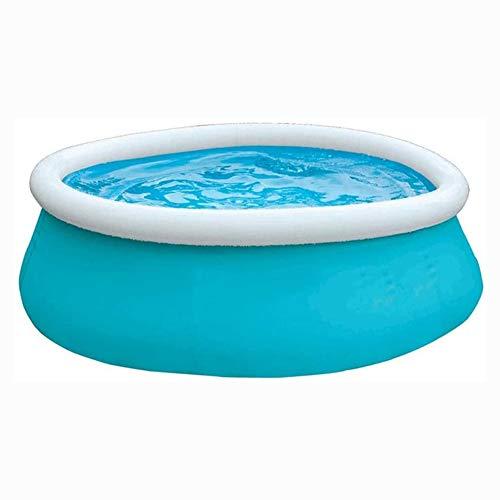 TYUIO Familie aufblasbare Swimming-Pools Luxurious Set, rund Easy Set Kiddie-Pools mit Pumpe und Patch-Kit, for Kinder, Erwachsene, Babys, Kleinkinder, Outdoor, Garten, Hinterhof (mit Platz for bis zu