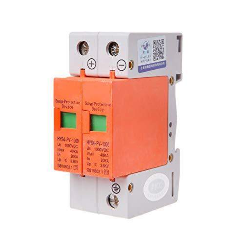 CADANIA Dispositivo de protección contra sobretensiones HYS4 SPD House DC Protector contra sobretensiones para Rayos DC 2 Polos 20KA ~ 40KA 1000V