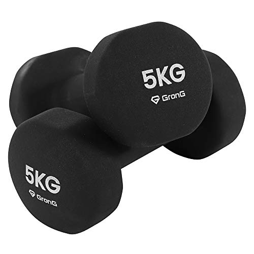 GronG(グロング) ダンベル 5kg 2個セット ブラック