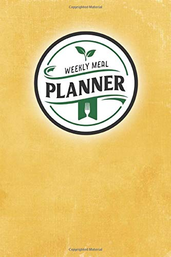 Weekly Meal Planner: 52-Week Menu Planner with Grocery Lists & Blank Recipe Cards (Yellow Retro Theme)