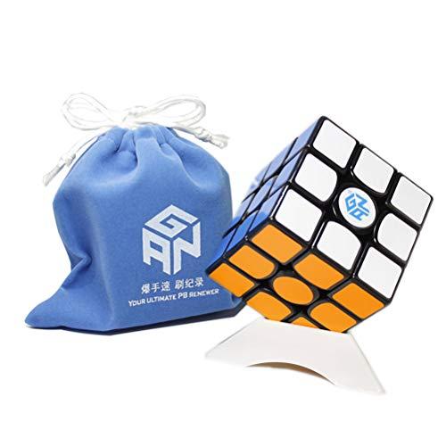 OJIN Ganspuzzle GAN356 X GES + Sistema 3x3 IPG V5 Cube 3x3 Gan 356 X Cube Puzzle con Un Sacchetto del cubo e Un treppiede del cubo (Nero)