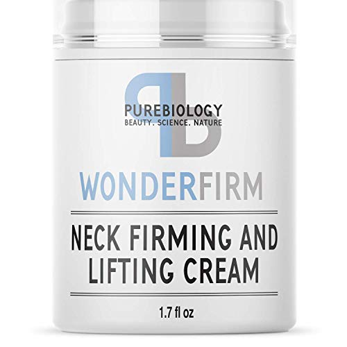 Pure Biology Neck Firming Cream, Anti Aging Wrinkle Cream for Face, Neck, Chest & Decolette, Skin Tightening Cream & Firming Lotion with Shea Butter