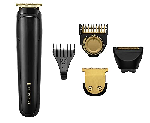 Remington T-Series Men's Hair Clipper and Beard Trimmer Kit - Cordless Professional Grooming Kit with 11 Attachments - MB7050