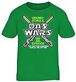 Einschulung 5. Klasse Kinder T-Shirt Laserschwert Grundschule Das Wars - Episode II, Größe: 152/164,Kelly Green