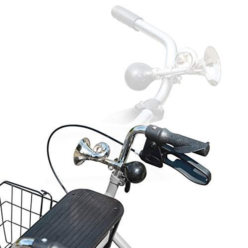 Deruxan Fahrrad Hupe Ballhupe klassisch Klinge Bike Mountainbike Horn Fahrrad Post Horn Vintage verchromt Blechhupe Indoorhupe mit Verstellbarer - 6