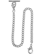 Reloj de bolsillo Albert Chaleco cadena con barra en T y cierres de langosta ManChDa reloj de cadena y soporte de reloj de bolsillo