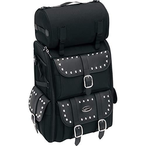 SADDLEMEN Sissybar-Tasche mit Nieten mit Gepäckrolle S3500S Deluxe
