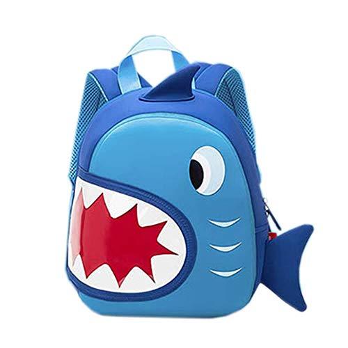 Mochila Infantil Yuan Ou Mochila de tiburón para niños pequeños Mochilas preescolares para niños Impermeables para niños Mochila de Viaje NH024