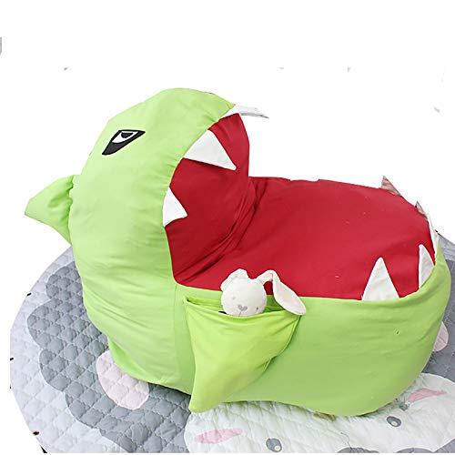 WJLED Große multifunktionale Spielzeug-Aufbewahrungstasche, gefüllter Sitzsack, Aufbewahrungssack für Sofas, Plüschtierhalter und Aufbewahrungstasche für Jungen und Mädchen,Grün