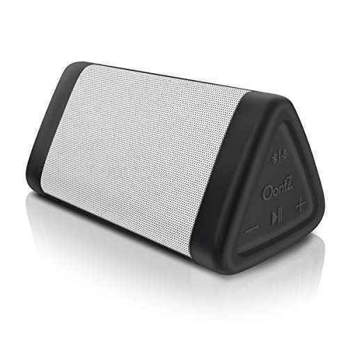 OontZ Angle 3 Bluetooth Portable Speaker, Crystal Clear Stereo Sound, Rich Bass, 100 Ft Wireless Range, Play Two Speakers Together (4th Gen only), Mic, IPX5, Bluetooth Speakers (White)