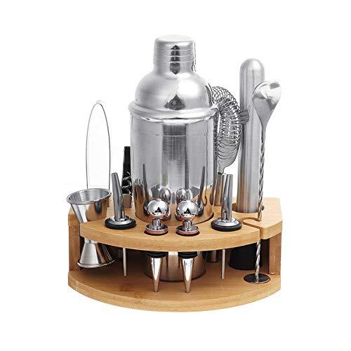 PN-Braes Juego de coctelería de acero inoxidable de 750 ml para coctelera de coctelera de acero inoxidable para herramientas de barra