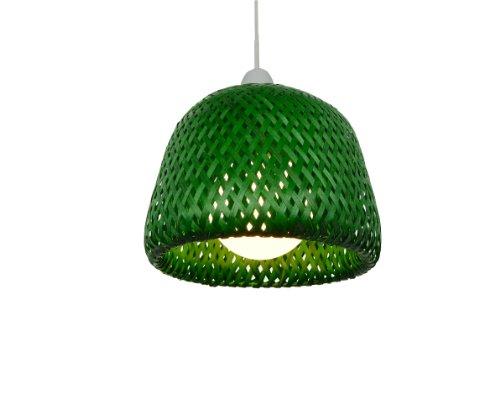 Lighting Web Company Abat-jour à mailles doubles entrelacées style dôme Vert