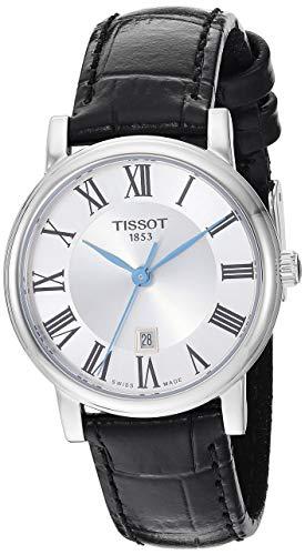 womens Carson Stainless Steel Dress Watch Black - Tissot T1222101603300