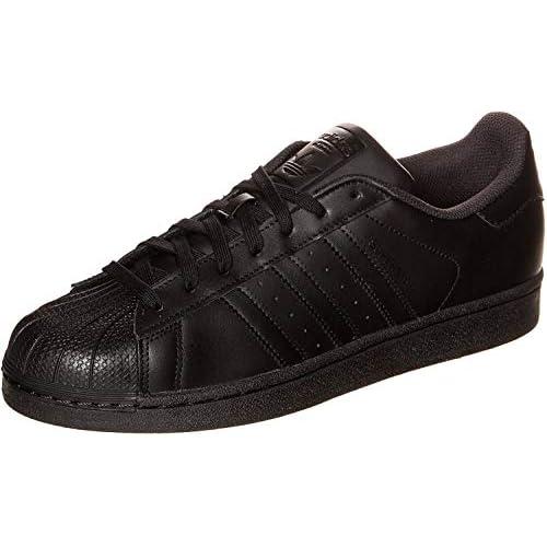 adidas Superstar Foundation, Scarpe da Ginnastica Basse Uomo, Nero (Core Black/Core Black/Core Black), 42 2/3 EU