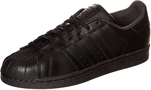 Adidas Originals Superstar Foundation, Baskets Basses homme, Noir (Core Black/Core Black/Core Black), 45 1/3 EU (10.5 UK)
