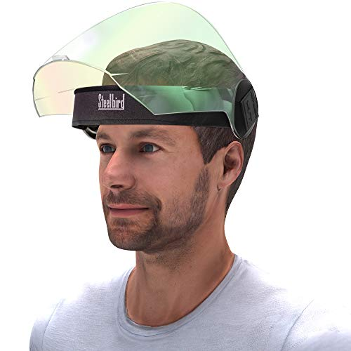 Steelbird YS-20 Pack of 1 Flip-up Movable Night Vision visor Face Shield, Full Face Protection Shield For Each and Everyone (Pack of 1, with Night Vision Green Visor)