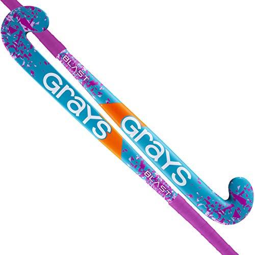 GRAYS Blast Ultrabow Outdoor Hockeyschläger Micro Stick (pink/türkis)-33