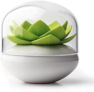Ocamo Lotus Cotton Ball/Swab Holder, Small Q-tips Toothpicks Organizer, Cosmetic Storage for Bathroom Vanity, 3 Colors