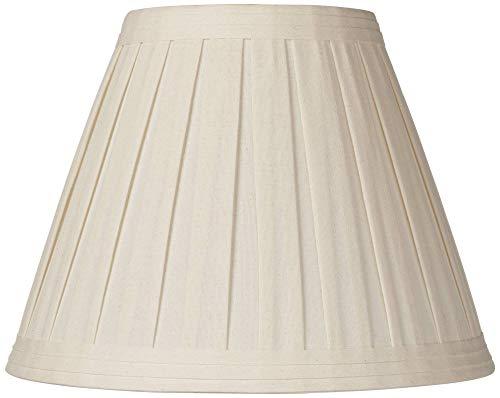 Creme Linen Medium Box Pleat Lamp Shade 7