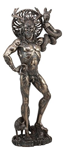 Ebros Large Cernunnos Statue 18.25' Tall Celtic Horned God Wiccan Figurine Deity of Animals Fertility Life and The Underworld