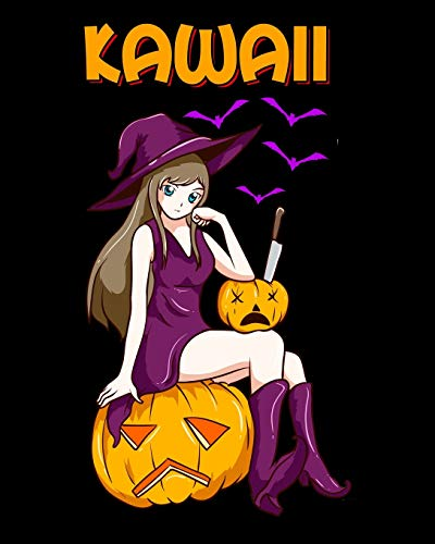 Kawaii: Kawaii Girl Halloween Anime Witch Waifu 2020-2021 Weekly Planner & Gratitude Journal (110 Pages, 8' x 10') Blank Sections For Writing Daily ... Moments of Thankfulness & To Do Lists