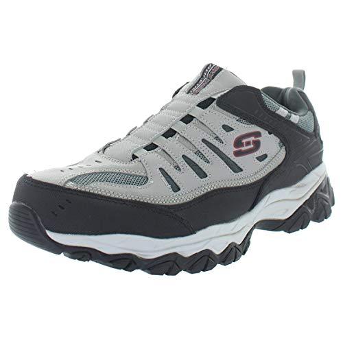 Skechers Sport Men's Afterburn Extra Wide Fit Wonted Loafer,gray/black,11 4E US