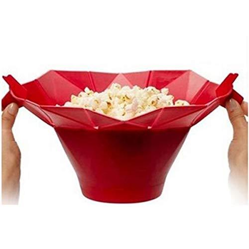 Greatangle Silikon Mikrowelle Popcorn Maker Popcorn Popper hausgemachte köstliche Popcorn Schüssel Backwerkzeuge Küche Backwaren DIY Eimer rot