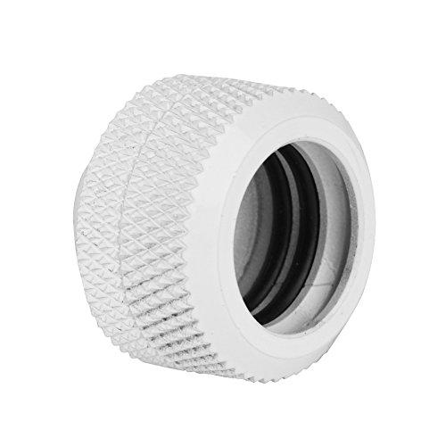 Tosuny 2 stuks / pak waterkoeling knelkoppeling met drielaagse afdichtringen voor harde acrylbuizen met een buitendiameter van 14 mm - zwart, wit, zilver (wit)