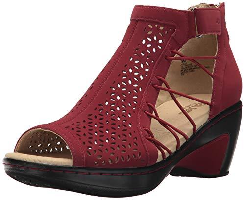 JBU Women's Nelly Wedge Sandal, red, 9 M US
