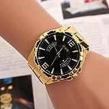 WLFPEG Or Plaqué Hommes Montres Top Marque De Alliage Bande Montre-Bracelet Femmes Horloge Quartz Montre-Bracelet Calendrier