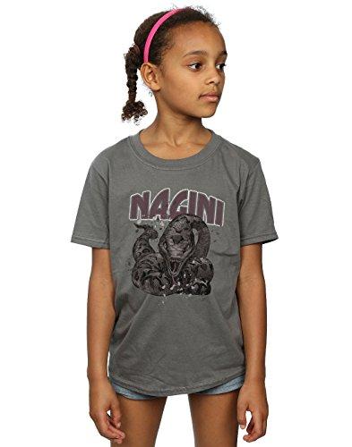 HARRY POTTER niñas Nagini Splats Camiseta 9-11 Years Carbón