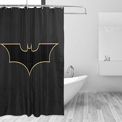 Why So Serious Joker Batman Duschvorhang, 168 x 183 cm, schlichter, geometrischer kleiner Stoff, Badezimmer-Vorhang-Sets mit Haken, dekoratives Spa-Hotel-Design, schwer, einzelne Badvorhänge