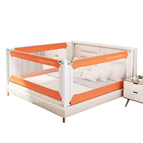 Affordable XJJUN Bed Rail Crib Guardrail 4 Sides Height Adjustable Safety Mesh Cloth Breathable Lift...