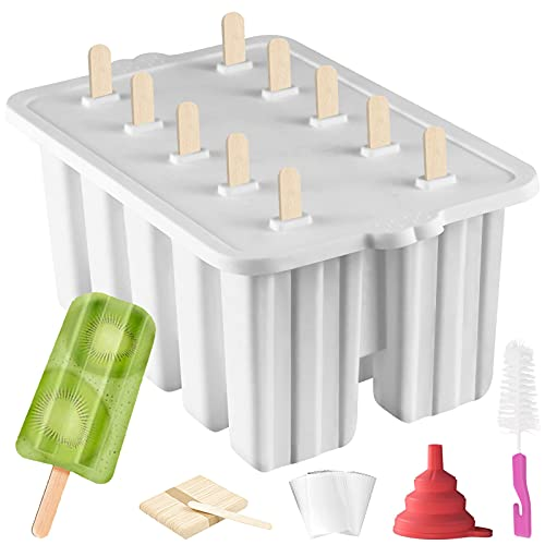 Silicone Popsicle Molds Popsicle Maker,10 Cavity...