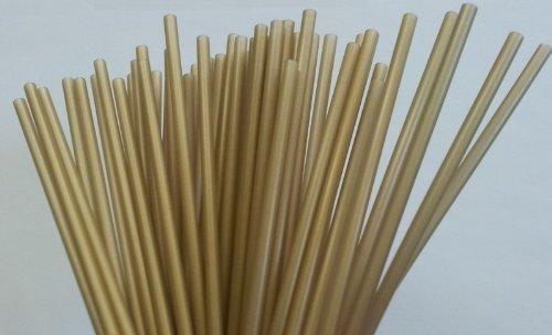 Cake Pops - Lollipop Sticks farbig - 50 Stück (gold) 15cm x 4mm