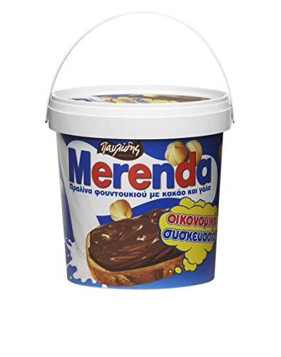 Merenda - griechischer Schoko Haselnuss 1 kg Eimer Brotauftstrich Kakao Aufstrich aus Griechenland Pavlidis Frühstück Schokoladen Creme