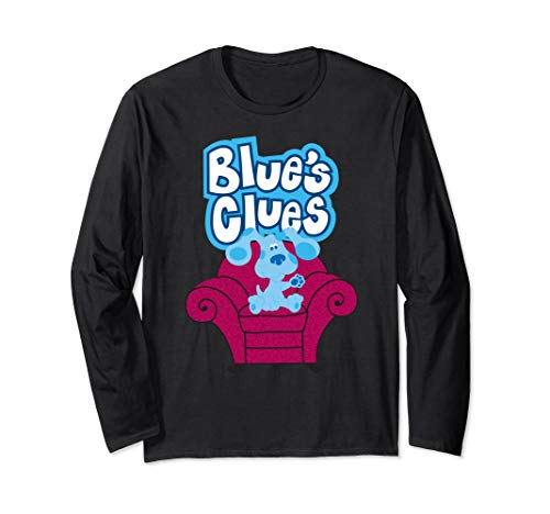 Blue's Clues On Red Sofa Long Sleeve T-Shirt