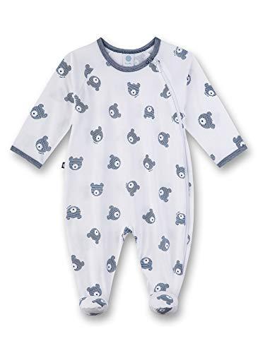 Sanetta Baby-Jungen Strampler, Weiß (weiß 10), 74 (Herstellergröße:074)