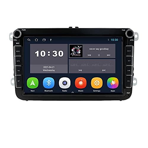 Android 10 OS 8 Pulgadas 2 DIN Radio de Coche Moniceiver GPS Navegación Bluetooth para Volkswagen Golf Passat Skoda Asiento Polo Amarok Jetta T5 Transporter