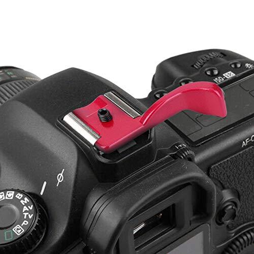 Kamera Fingergriff Hot Shoe Fingergriff Aviation Aluminium Standard Hot Shoe Halterung, für die meisten Standard Hot Shoe der DSLR(red)