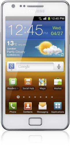 Samsung Galaxy S II (i9100) DualCore Smartphone (10,9 cm (4,3 Zoll) Display, Touchscreen, Android 2,3, 8 Megapixel Kamera, Full-HD Kamera, 2 Megapixel Frontkamera) [EU-Version] ceramic weiß