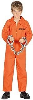 Girls Boys Prisoner Inmate Orange Death Row Halloween Horror Scary TV Book Film Fancy Dress Costume Outfit 3-12 Years
