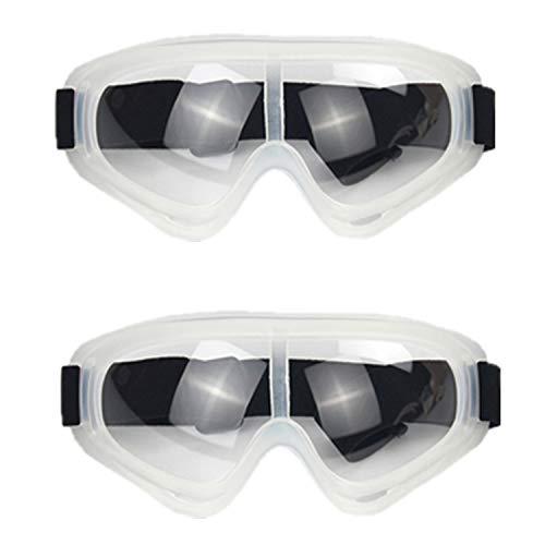 HONGCI 2er Schutzbrille,Anti-Fog- und UV-Schutz-Schutzbrille, Schutzbrille,Schutzbrille für Kinder Nerf Gun Battles,BAU,Heimwerken, Labor,Schweißen,Chemie,Persönlicher Gebrauch (Weiß)