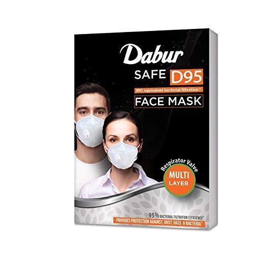 Dabur Safe D95 Face Mask Provides Protection Against Dust, Haze And Bacteria (White)