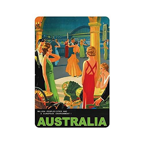 Australia 1 Retro Iron Painting Personalizzato Illustrazione Arte Segnale Di Avvertimento Stoccaggio Bar Decorazione Della Parete