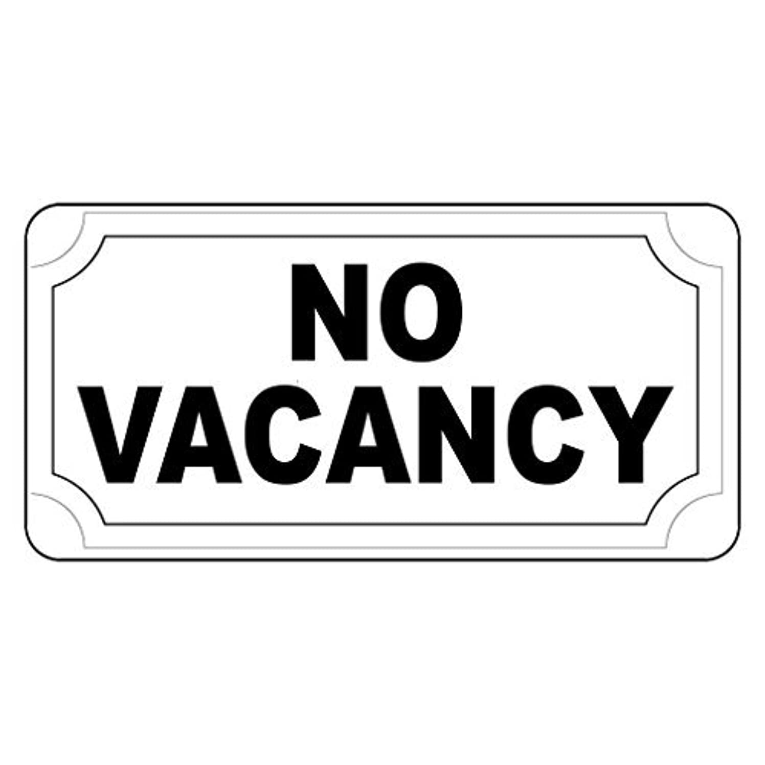 No Vacancy Black Retro Vintage Style Metal Sign - 8x12 inch With Holes