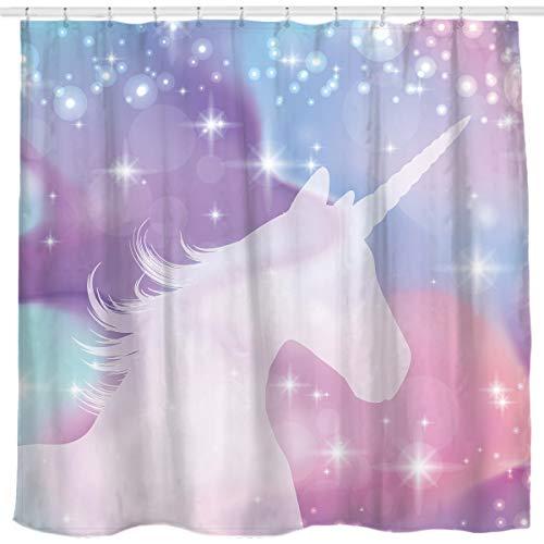 cortinas baño unicornio
